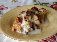 Bread Pudding with Buttery Bourbon Sauce