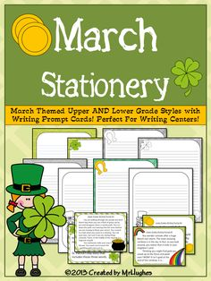 {FREEBIE} My March gift to you! :) Includes both Upper and Lower grade stationery and writing prompts! Enjoy!