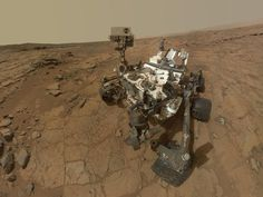 """NASA - Curiosity Rover's Self Portrait at 'John Klein' Drilling Site. (Image Credit:NASA/JPL-Caltech/MSSS)  A mosaic of images taken on the 177th Martian day, or sol, of Curiosity's work on Mars (Feb. 3, 2013). ©Mona Evans, """"Mars Facts for Kids"""" http://www.bellaonline.com/articles/art36393.asp"""
