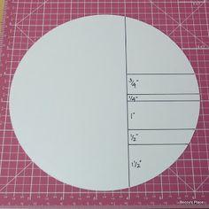 Circle side stepper card measurements
