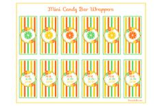 Free Citrus Mini Candy Bar Wrappers