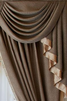 Celuce shimmering espresso swag valance curtain set for Celuce curtains
