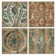 Set Of Four Arcadelt Wall Tiles