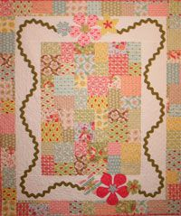 Liliana Quilt Pattern by Crazy Old Ladies at KayeWood.com. Ric-rac and flowers, rectangles, squares and jelly rolls. That's what Liliana is made of! http://www.kayewood.com/item/Liliana_Quilt_Pattern/3412/c71m150$10.00