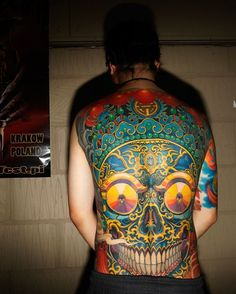 back #piece #skull #tattoo