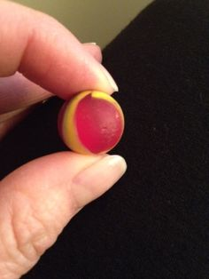 red and yellow sea glass marble