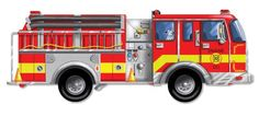 Melissa and Doug floor jigsaw puzzle for the little boy who loves a) puzzles and b) fire trucks! #jigsawpuzzles #firetrucks