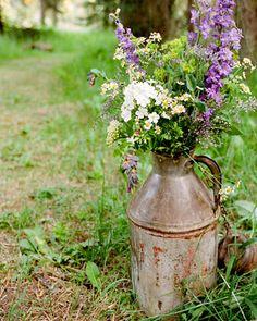 large flower arrangement.