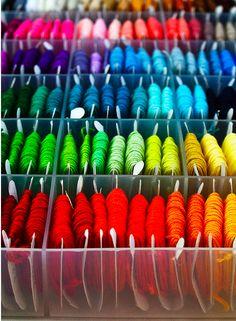 colour, making bracelets, mom crafts, diy bags, yarns, rainbows, box, rainbow colors, friendship bracelets
