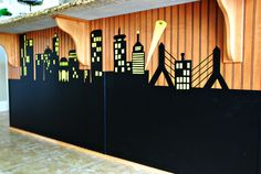 DIY Contact Paper Cityscape Photo Backdrop