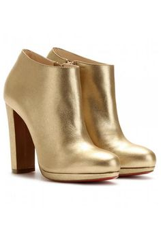 christian-louboutin gold ankle boots