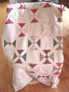 I love the washouts on this, plus the narrow white or faded sashing. ANTIQUE QUILT blue pink off white CUTTER | eBay, antique.cottage.
