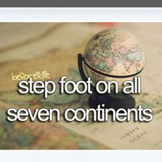 step foot on all seven continents