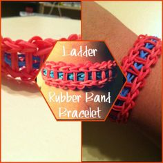 Ladder Rubber Band Bracelet (tutorial) #rainbow_loom #jewelry #kids #friendship