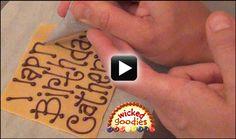 Chocolate Cake Writing Video  l  Wicked Goodies