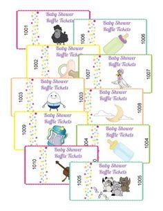 Baby Shower Raffle Tickets babi idea, shower stuff, raffl ticket, baby shower games, babi gift, shower idea, shower raffl, babi shower, baby showers