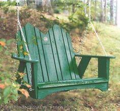 Original Series Bench Swing by Uwharrie Chair - Original - Multiple Options - Porch Swings - 1052
