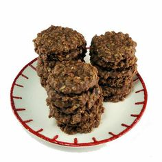 No-Bake Peanut Butter Chocolate and Oatmeal Cookies