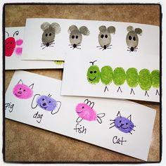 fingerprint art, vinger druk, idea, finger print drawing, fingerprints, knutselen, finger print art, kid craft