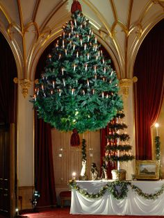 A suspended Christmas tree at Windsor Castle by The British Monarchy, via Flickr