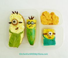 Kitchen Fun With My 3 Sons: Despicable Me Minion Bento Lunch