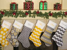 CHRISTMAS STOCKINGS * Each Christmas Stocking Includes Free Personalized Embroidery * 40 Designer Christmas Stocking Fabrics