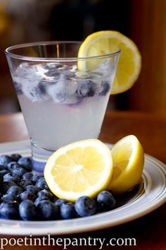 Blueberry Vodka Lemonade...what better way to celebrate after picking fresh berries?