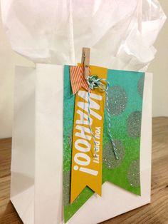 "My paper pumpkin kit September 2013  ""Wahoo"" Gift-Bag  (Stampin' Up!)"