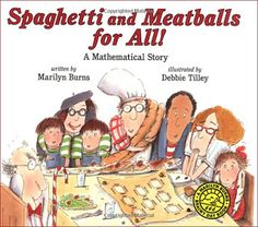 A #math story: Spaghetti and Meatball for all! Teaches about area and perimeter.