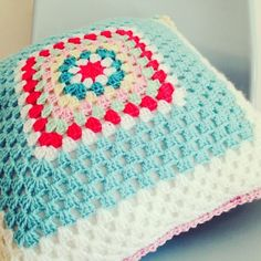 Beautiful #crochet covered cushion by sharna_sews