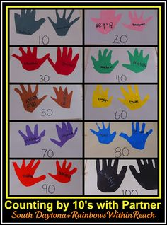 Counting by 10's with a friend, to honor the 100th day!! (Additional ideas in the article.)