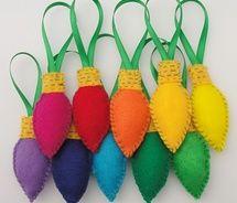 DIY felt ornaments christmas...string together for garland!