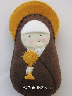 Saint Clare of Assisi Felt Saint Softie.