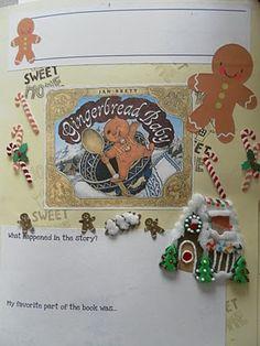 Gingerbread Baby Lapbook activities