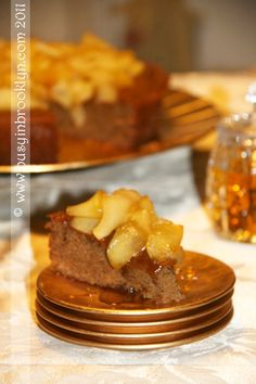 Honey Cake with Caramelized Apples  the perfect Rosh Hashanah dessert!