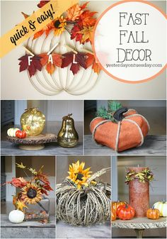 Super Quick and Easy Fall Decor Ideas with materials from @craftsandframes #falldecor #fallcrafts #pumpkins