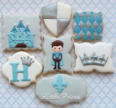 Little Prince first birthday cookies by Miss Biscuit