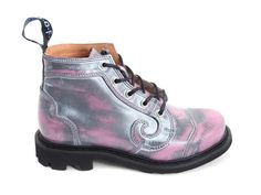 The hubs and I LOVE Fluevog shoes!  Well made, stylish, and unique!    I might have to buy these funky little boots. Fluevog Shoes - Item detail: Derby Swirl (5 Eye)