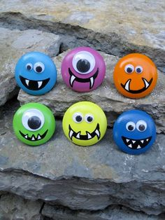 Drawer Knob MONSTER with Googly Eyes CUSTOM colors by DaRosa, $6.50