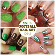15 Fun Football Nail Art Ideas