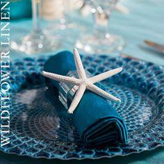 Blue beach theme with finger starfish.