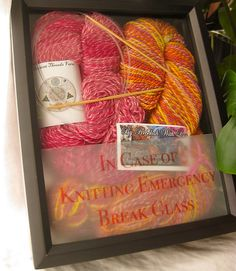 In case of knitting emergency . . . !!!