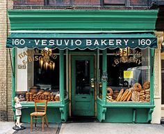 The bread contrasts well with the green. The awning adds a special touch. Love this!