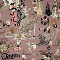 Fabric... A Ghastly Holiday in Mauve by Alexander Henry Fabrics