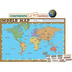 World Map Bulletin Board Set