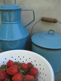 Blue Enamelware blue granitewar, blue enamelwar, strawberri, 52 flea, blues