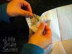 Tutorial for napkin cards from Little Birdie Secrets
