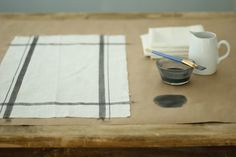Jenny Steffens Hobick: Hand Painted Linen Kitchen Towels & Napkins - Easy DIY Project - @sugarpie project •