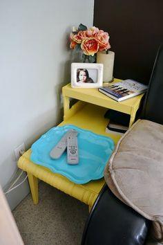 Yellow Telephone Table. Mia's room.