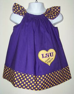 LSU Geaux Tigers Custom Boutique Dress / by KarriesBoutique @Samantha Delaney Miss Priss needs this.  ;)  It's a shame I'm not a millionaire... haha.